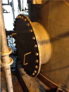 precipitator tank manway