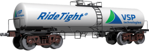 ridetight logo on railcar