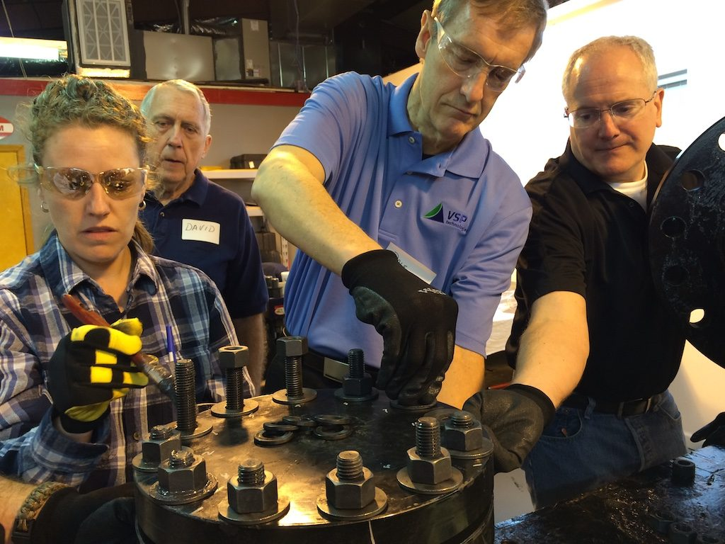 2015 asme joint assembly training assembling a flange