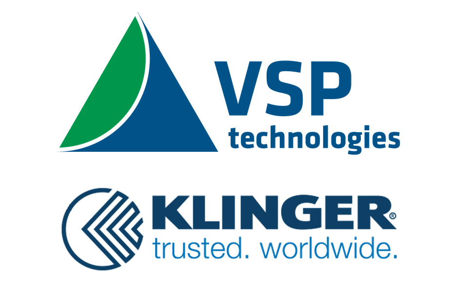 vsp logo overtop of klinger logo